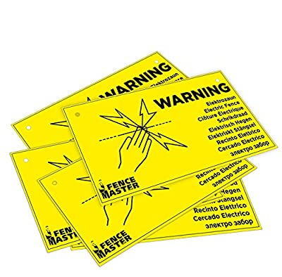Sparangebot - 5 Stück Warnschild Vorsicht Elektrozaun