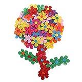 Nahuaa 100PCS FloresdeFieltro Colores Variados AdornosdeFieltro Manualidades FigurasFieltro para DIY Niños Adultos Horquillas Diademas Sombreros Adornos Artesanales