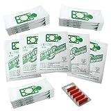 First4spares - Stoff Staubsaugerbeutel Hohe Filtration 'Filter Flo' (20 Stück) und Lufterfrischer (5 Stück) Für Numatic Henry Hetty etc. Staubsauger