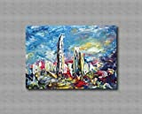 Pinturas al óleo de Arte Moderno Arte de Lienzo de Pared Pintura al óleo sobre lienzo de pared Decoración del hogar ilustraciones abstractas pintadas a mano - - GRATTACIELLI 50x70cm