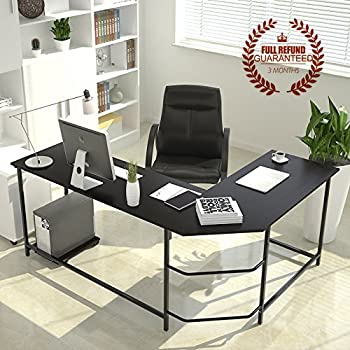 shaped computer desk home office. L-Shaped Corner Computer Desk Large PC Laptop Study Table Workstation Home Office Wood Shaped H