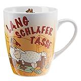 NICI Tasse Langschläfertasse Kaffeetasse, Becher, Schaf, Geschenk, Kaffeebecher, 270 ml, 39890