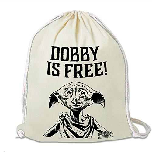 LOGOSHIRT - Harry Potter - Dobby Ist Frei - Sportbeutel - Turnbeutel - schwarz - Lizenziertes Original Design