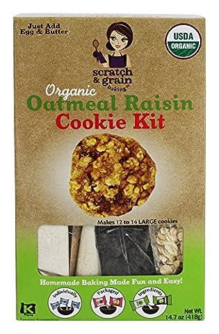Scratch & Grain Baking Co. - Organic Cookie Kit Oatmeal Raisin - 14.7 oz.