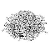 Sharplace 200pcs Crimpado Mangas Aleación de Aluminio Conectar Mono Línea Líder de Alambre Pesca - 1,0 mm