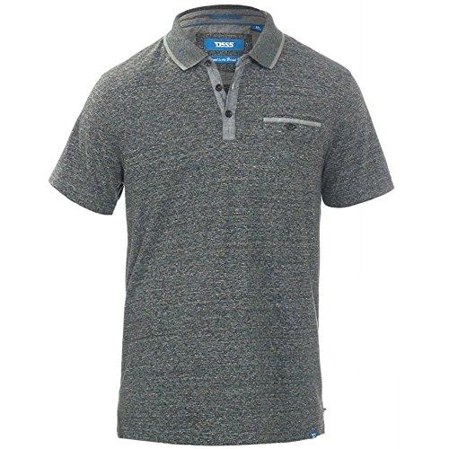 D555 Duke Kingsize Big Mens Bradford Polo Shirt Grey Stripe 2XL-6XL RRP £33.00 Grey Stripe