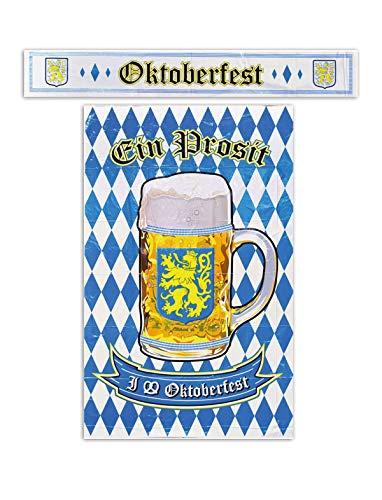 Oktoberfestdekoration Poster 122 x 76 cm & Banner 120 x 20 cm