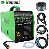 Soldador MIG REBOOT MIG175 de gas y sin gas DC 220 V Inverter dispositivo de soldadura MMA MIG MAG IGBT