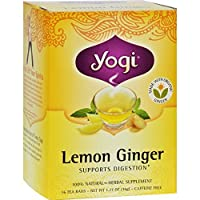 YOGI TEA,OG3,LEMON GINGER, 16 BAG