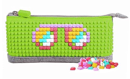 Preisvergleich Produktbild Upixel Trends DEUPB002-7 - Pixel Mappe, Faulenzermäppchen, apfel grün