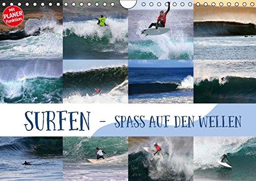 Surfen - Spaß auf den Wellen (Wandkalender 2019 DIN A4 quer): Surf-Spaß für zuhause (Geburtstagskalender, 14 Seiten) (CALVENDO Sport)