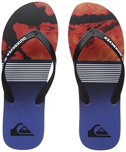 Quiksilver Molokailavadivs, Zapatos de Playa y Piscina para Hombre, Negro (Negro/(Xkrb Black/Red/Blue) Xkrb), 40 EU