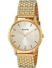 Sonata Analog Champagne Dial Boy's Watch - 77031YM07J