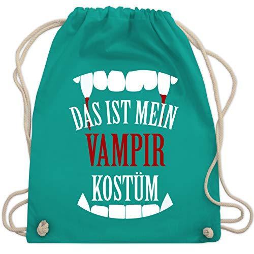 Halloween - Das ist mein Vampir Kostüm - Unisize - Türkis - WM110 - Turnbeutel & Gym Bag (Halloween-kostüm-ideen Schnell Lustige)