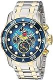 Invicta 23769 Disney Limited Edition - Mickey Mouse Orologio da Uomo acciaio inossidabile Quarzo quadrante blu
