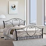 FurnitureKraft Atlanta Metal Queen Size Double Bed,Black