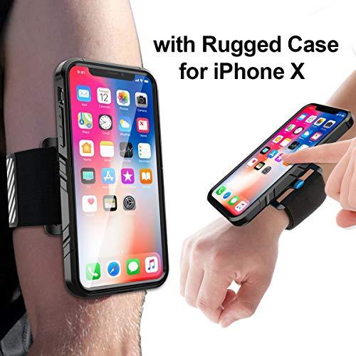 Greallthy Handy-Armbänder für iPhone X mit robustem stoßfestem Gehäuse, einfache Montage, integrierte Reflect-Streifen, Sportarmband für den Sport im Freien Jogging Radfahren Laufen - Gps-lock