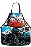 Kinderschürze Disney Cars - mit 2 Taschen - Größenverstellbar Schürze - für Kinder Jungen beschichtet - Lightning Mc Queen Auto