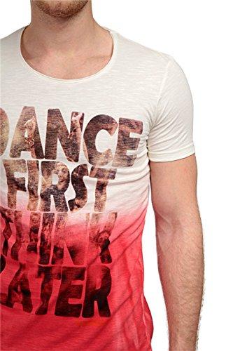 Phazz Brand Munich Herren Shirt Motiv T-Shirt DANCE FIRST, Farbe: Rot Rot