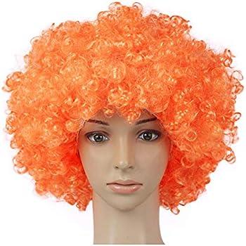Orange PTIT CLOWN 68100 Perruque Pop