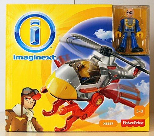 Fisher-Price - Imaginext - Sky Racers - Hawk Helicopter - with Figure by Imaginext