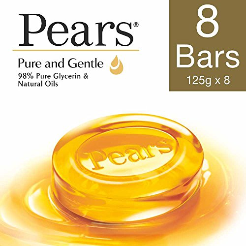 Pears Pure and Gentle Bathing Bar, 125 g (Pack of 8)