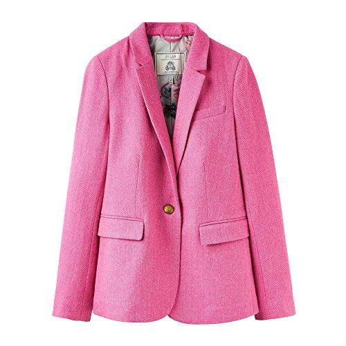 Joules Horatia Tweed-blazer 10 Pink Herringbone (Damen Blazer Tweed)