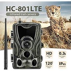 ZNQY Caméra de Chasse, Surveillance Infrarouge HC-801 Vision Vision Nocturne MA 5000 mAh pour recharger l'appareil Photo du Sentier de la forêt en Montagne , Vidéo HD