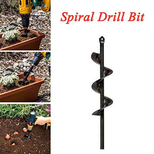 Tianya Spiralbohrer, Neuer Pflanzer-Gartenschneckenbohrer-Bohreraufsatz 46 * 370 mm Gartenarbeit