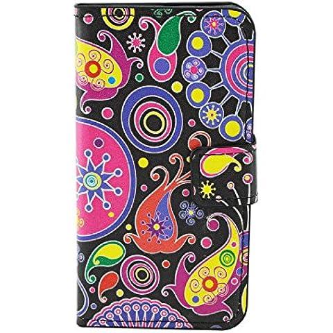 Meet de Huawei Ascend Y550 PU Pelle Case, (motivi floreali)