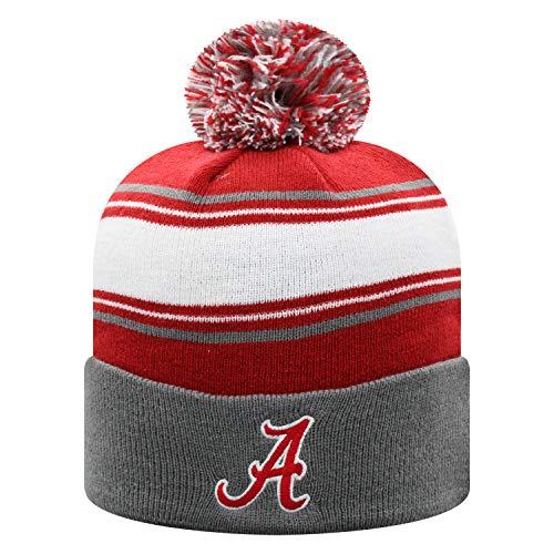 Top of the World NCAA Herren Strickmütze Ambient Warm Team Icon, Unisex - Erwachsene, Elite Fan Shop NCAA Winter Knit Hat Ambient Warm, Alabama Crimson Tide Charcoal, Einheitsgröße - Crimson Knit Beanie
