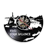 1Piece Trova Il Tuo Equilibrio Inspiration Yoga Citazioni Wall Art Lampada da Notte a LED Yoga Logo Studio Mood Lampada di Illuminazione Yoga Classroom Deco