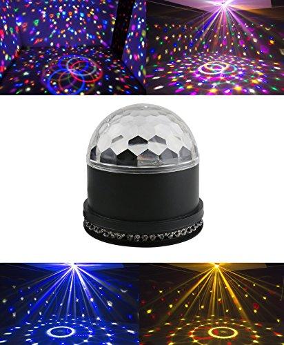 Magic Ball Disco DJ Lichteffekt Discokugel LED Licht Bunt Projektor Kristall Effect Licht für Weihnachtsparty Disco Mini Party