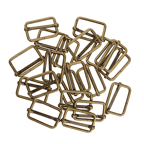 Sharplace 20pcs Adjustable Metal Connector Buckles for DIY Accessories Supply Bag Bag - Bronze, 25x16x2.8mm