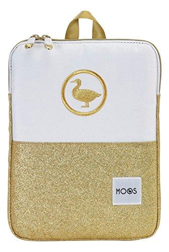 Safta Gold Funda Ordenador Portátil y Tablet de 10,6', Color Blanco y Dorado