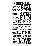 ZOUJIE Wandaufkleber wir wie Dieses Haus wandaufkleber Brief wandbild Text Vinyl abnehmbare Kunst Aufkleber Transfer Home Decoration 58 * 125 cm