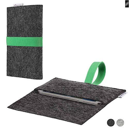 flat.design Handy Hülle Aveiro für Cyrus CS 22 passgenaue Filz Tasche Case Sleeve Made in Germany