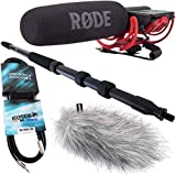 Rode Videomic Rycote KEEPDRUM Bundle + MPB01 Boompole 3m + Windschutz WSWH + Miniklinke 3m