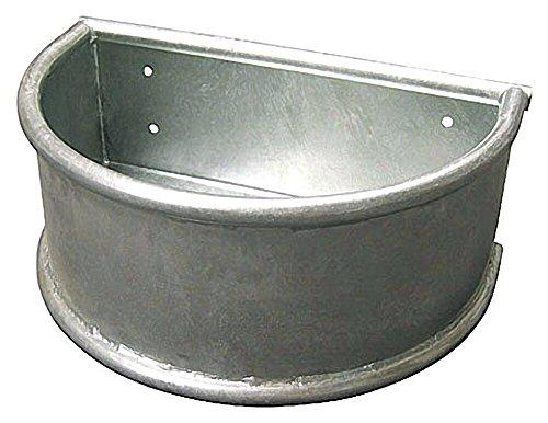 Verzinkter Rund-Trog 28 l feuerverzinkt Pferdetrog mit Ablaufstopfen 15 mm