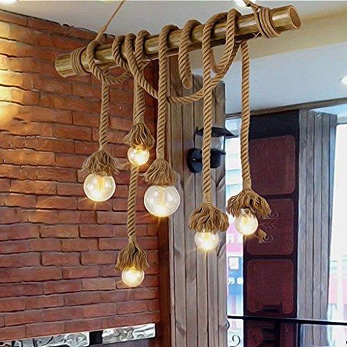 OYE Haushalt Kronleuchter Retro Industrie Wind Kreative Persönlichkeit Restaurant Bar Europäischen Stil Edison Flöte Kopf Einzel Kronleuchter Kronleuchter Auge,Si * Köpfe,