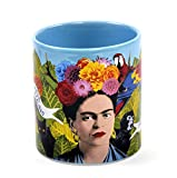 Frida Kahlo Art Coffee Mug - Famous Quotes in English and Spanish - Comes in a Fun Gift Box