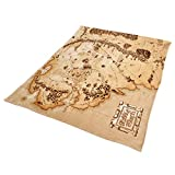 Lord of the Rings Middle Earth Map Fleece Blanket Beige 200x220cm by Elbenwald