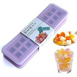 £ ¨ contiene dos fundas) 20cavidades de silicona Mini Bola de hielo molde cubitos de hielo cubitos de hielo DIY moldes Candy perlas canicas grano café frutas grano Lovely partículas de hielo, color morado
