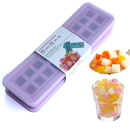 Contains two covers MINI Silicone 20 cavities Ice Ball mold Ice cube Tray Ice Cubes DIY Molds Candy beads marbles grain coffee fruit grain Lovely Ice particles Purple Mini-eis Ball Mold