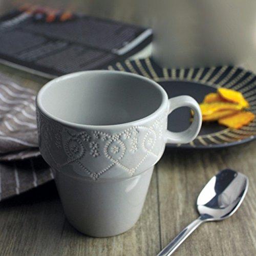 AJUNR-Einfach Und ExquisitKeramisches Geschirr Solide Kaffee Tasse Milch Cup Haushalt Coffee Mug