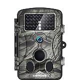 EARTHTREE Wildkamera Fotofalle, Full HD 1080P 12M Jagdkamera mit 120¡ã Weitwinkel Objektiv Fotofalle, 42 Low Glow Infrarot LEDs, 20m Nachtsicht, 2.4