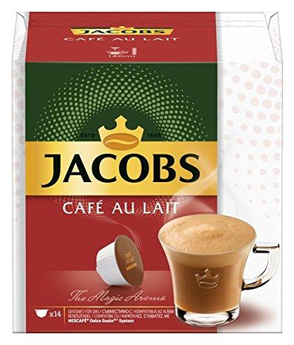 Jacobs Kaffeekapseln Café Au Lait, 3 x 14 Nescafé (R) Dolce Gusto (R)* kompatible Kapseln (3 x 140 g)