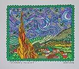 James Rizzi Starry Nights 2D Poster Kunstdruck Farblithographie - Kostenloser Versand