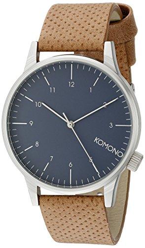 Komono Reloj Analógico de Cuarzo Unisex con Correa de Cuero – KOM-W2000 f0942755938