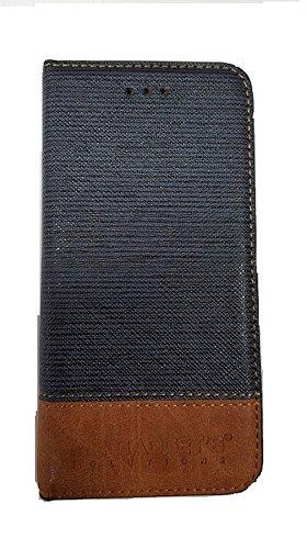 Portefeuille en cuir pour Apple iPhone 6-Bleu de qualité supérieure avec PU.